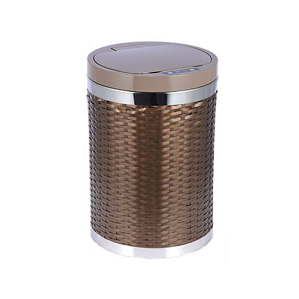 Electric Woven Basket Trash Cans