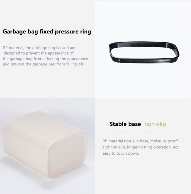Garbage bag fixed pressure ring