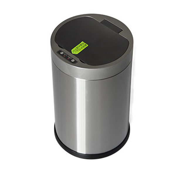 Round Smart Sensor Trash Rubbish Can